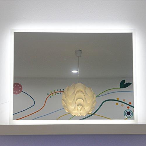 Anten® 19W 80×60CM 6000K LED Badspiegel Spiegelleuchte Spiegel Wandspiegel mit Beleuchtung LED Touch Schalter [Energieklasse A+]
