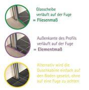 Duschkabine Dusche 90x90 Eckeinstieg Duschabtrennung Glas (ESG) Schulte 2