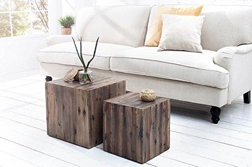 dunord design beistelltisch couchtisch catan 2er design tisch set treibholz massivholz vintage. Black Bedroom Furniture Sets. Home Design Ideas