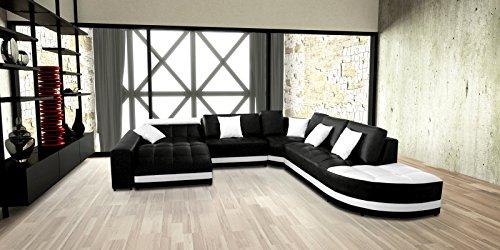 SAM® Ecksofa Glorianna schwarz weiß 311 x 311 cm rechts