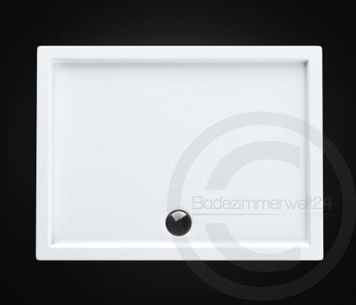 AQUABAD® Duschwanne/Duschtasse Superflach Rechteck 80x90x5,5 cm