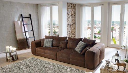 Cavadore Mavericco Big Sofa, Schaumstoff, braun, 108 x 287 x 69 cm