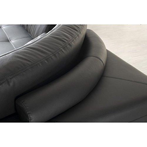 Design Ledermöbel Ledersofas Voll-Leder Ecksofa-Sofa-Ledergarnitur Couch 5042-LS