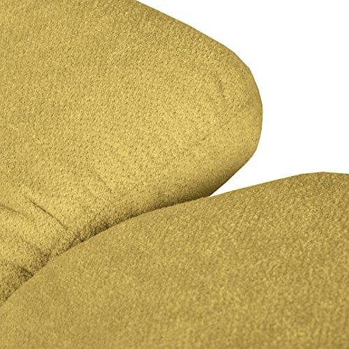 Cavadore Wohnlandschaft Tabagos / U-Form mit Ottomane links / XXL Sofa mit Sitztiefenverstellung / Kopfteilverstellung / 364 x 85-96 x 248 (B x H x T) / Farbe: Curry (gelb)
