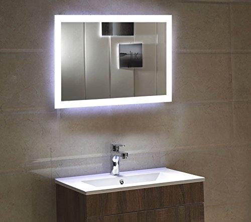dr fleischmann badspiegel led spiegel gs084n mit beleuchtung durch satinierte lichtfl chen. Black Bedroom Furniture Sets. Home Design Ideas