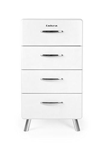 Tenzo 4904-001 Cobra Designer Kommode, MDF lackiert, 92 x 50 x 43 cm, weiß