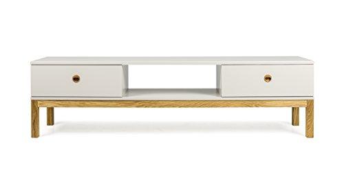 Tenzo 3562-083 Fresh Designer TV-Bank Holz, warm grey / eiche, 49 x 169 x 46 cm