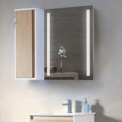 TOP AKTION WEIHNACHTEN! Badezimmerspiegel mit LED, Lindau 50x70cm, LED Bad Spiegel, Energieklasse A+