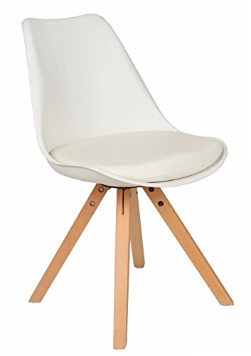 1x Design Wohnzimmer Esstisch Küchen Stuhl Esszimmer Sitz Polster Weiß Holz