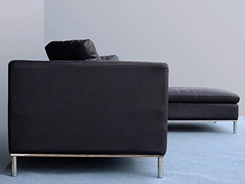 Design Ledermöbel Ledersofas Voll-Leder Ecksofa-Sofa-Garnitur-Eckgruppe 299-RSmH