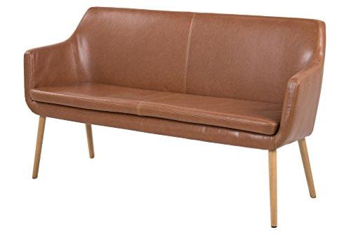 AC-Design-Furniture-63834-Sofabank-Trine-lederlook-vintage-cognac-Holzbein-Eiche-lbehandelt-0