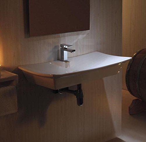 Art-of-Baan® - Design Waschbecken; Keramik weiß 790x390x130mm; Wandmontage (4277A)