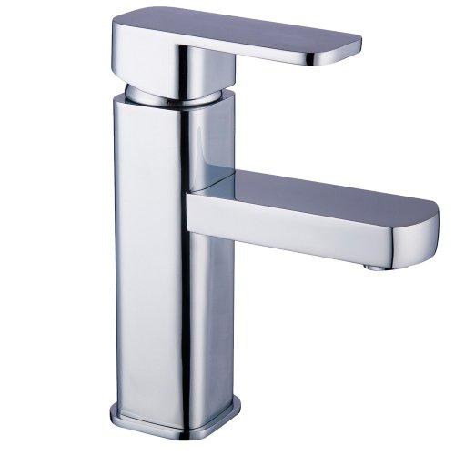 Badarmatur Küchenarmatur aus verchromtem Messing inkl. Montage- und Anschlussmaterial