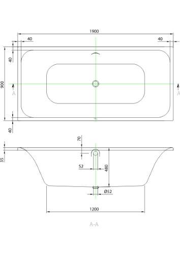 Badewanne-Rechteck-190x90cm-wei-Villeroy-Boch-Unternehmensgruppe-FO05052000-0