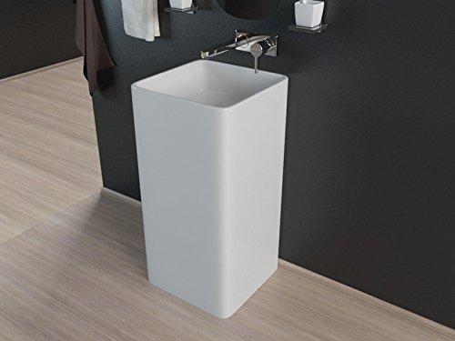 Design Keramik Stand Säule Standsäule Standwaschbecken Waschtisch Waschbecken KBE4A ohne Armaturloch