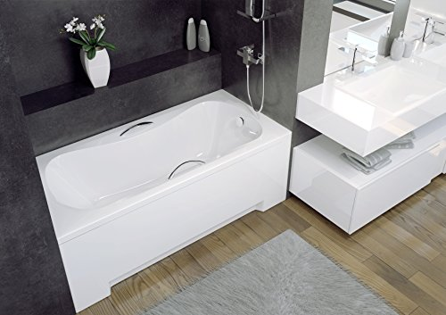 EXCLUSIVE-LINE-Badewanne-Wanne-Rechteck-Premium-140x70-cm-mit-Schrze-Ablaufgarnitur-Viega-Simplex-im-SET-0