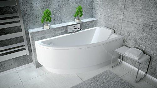 EXCLUSIVE-LINE-Eckbadewanne-Eck-Acryl-Badewanne-Practic-150x70-cm-Rechts-mit-Schrze-Viega-Simplex-Ablaufgarnitur-0