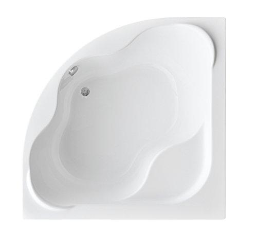EXCLUSIVE LINE® Eckbadewanne Eckwanne Badewanne COMFORT 150x150 cm mit Wannenträger, Wannenfüße und Viega Simplex Ablaufgarnitur