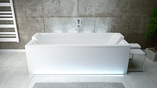 EXCLUSIVE-LINE-Rechteck-Acryl-Badewanne-QUADRO-165x75-mit-Ablauf-Viega-Simplex-Schrze-und-2x-Kopfsttze-0