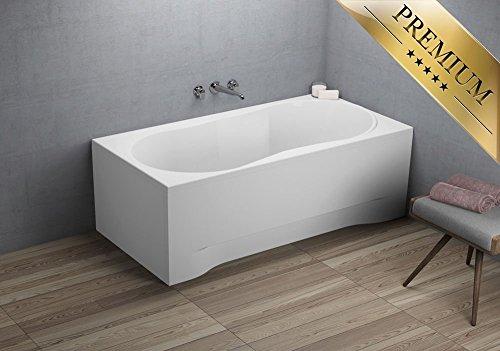 EXCLUSIVE-LINE-Rechteck-Badewanne-Acryl-DESIGN-160x70-cm-mit-Schrze-Fen-und-Ablaufgarnitur-GRATIS-0