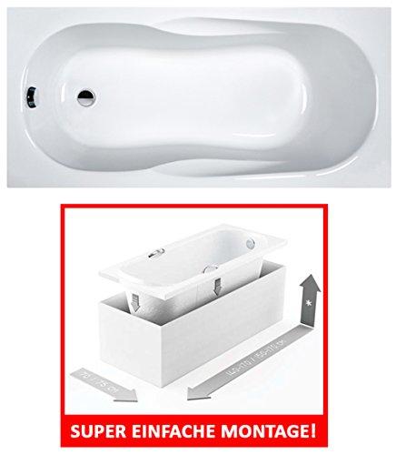 EXCLUSIVE-LINE-Rechteck-Badewanne-Wanne-Acryl-SANPLAST-170x70-cm-mit-MONOLITISCHER-WANNENTRGER-0