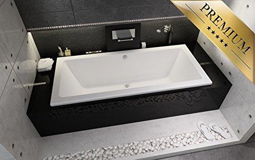 EXCLUSIVE-LINE-Rechteck-badewanne-Riho-Lusso-180x90-mit-Wannenfe-Wannentrger-und-Viega-Simplex-Ablaufgarnitur-im-SET-0