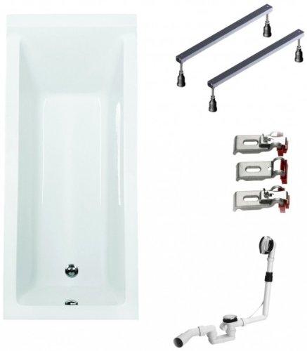 Galdem-Badewannen-Set-GABWSET122WF-170-x-75-cm-hochwertiges-Wannen-komplett-SET-bestehend-aus-einer-Rechteck-Acryl-Design-Badewanne-Wannen-Fugestell-sowie-be-0
