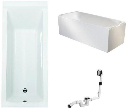 Galdem-Badewannen-Set-GABWSET122WT-170-x-75-cm-hochwertiges-Wannen-komplett-SET-bestehend-aus-einer-Rechteck-Acryl-Design-Badewanne-Wannentrger-aus-Styropor-so-0