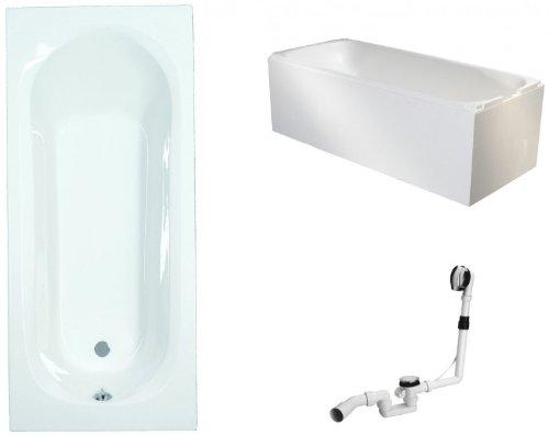 Galdem-Badewannen-Set-GABWSET125ET-170-x-75-cm-hochwertiges-Wannen-komplett-SET-bestehend-aus-einer-rechteck-Acryl-Design-Badewanne-Wannentrger-aus-Styropor-so-0