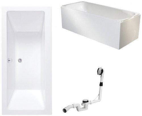 Galdem-Badewannen-Set-GABWSET142RT-170-x-75-cm-hochwertiges-Wannen-komplett-SET-bestehend-aus-einer-Rechteck-Acryl-Design-Badewanne-Wannentrger-aus-Styropor-so-0