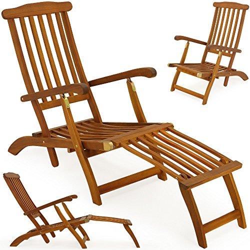 Hartholz Deckchair Sonnenliege Liegestuhl Holz Liege Stuhl Gartenmöbel