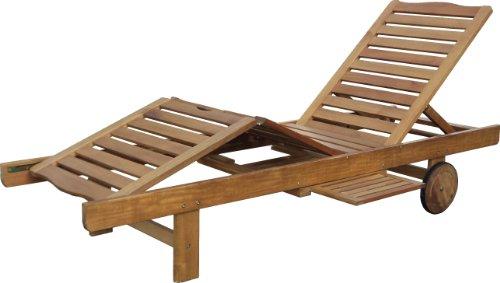 """Hecht Liege """"Resort A Lounger"""" Gartenliege aus Akazienholz"""