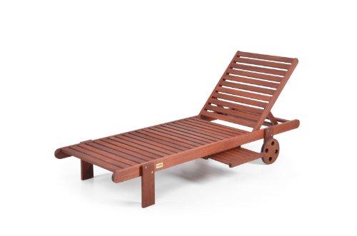 """Hecht Liege """"Resort I Lounger"""" Gartenliege aus Merantiholz"""