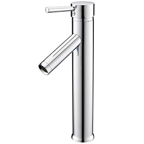 KINSE® Modern Hoch Auslauf Flexible Wasserhahn Armatur Waschschüssel für Badezimmer