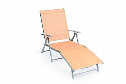 MERXX Deckchair aus Aluminium Bezug apricot