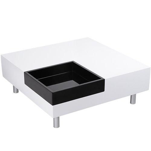 Miadomodo® Couchtisch Beistelltisch Wohnzimmertisch ca. 75x29x75cm in Hochglanz Tabletttisch