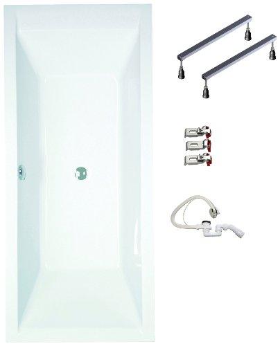 Mybath-BWSET120RF-Badewannen-komplett-Set-inklusiv-Acryl-Rechteck-Fugestell-und-ber-Ablaufgarnitur-180-x-80-cm-0