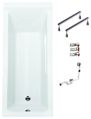 Mybath-BWSET121WF-Badewannen-komplett-Set-inklusiv-Acryl-Rechteck-Fugestell-und-ber-Ablaufgarnitur-160-x-70-cm-0