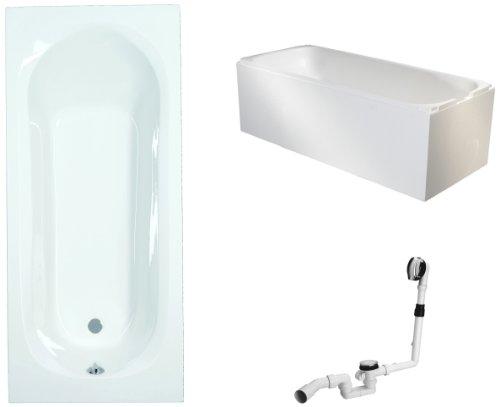 Mybath-BWSET134ET-Badewannen-komplett-Set-inklusiv-Acryl-Rechteck-Trger-und-ber-Ablaufgarnitur-170-x-70-cm-0