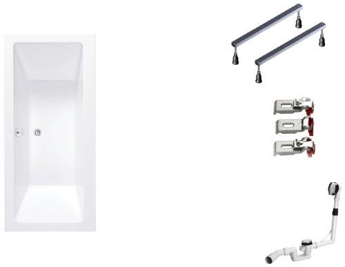 Mybath-BWSET142RF-Badewannen-komplett-Set-inklusiv-Acryl-Rechteck-Fugestell-und-ber-Ablaufgarnitur-170-x-75-cm-0