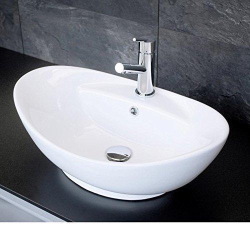 Ovales Design Keramik Aufsatz Waschbecken / Waschschale Modell 16