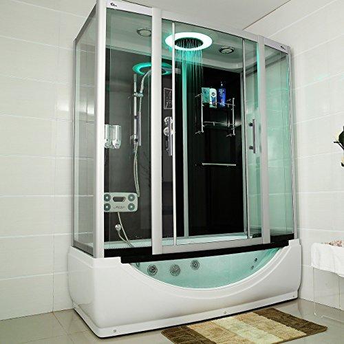 TroniTechnik-Dampfdusche-Duschtempel-Whirlpool-Badewanne-Komplettdusche-Duschkabine-Dusche-170x90-schwarz-0
