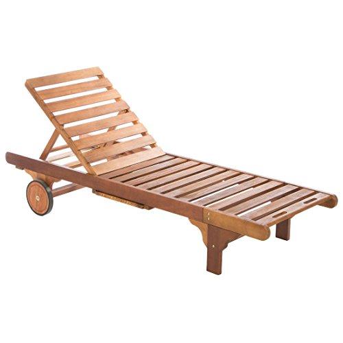 Ultranatura Gartenmöbel - Basics Sonnenliege aus Hartholz, braun