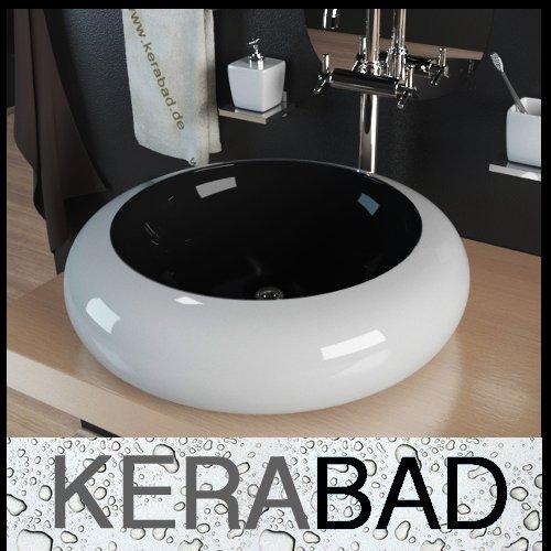 Waschbecken KBW100SW Keramik Waschtisch Waschschale Aufsatzwaschbecken