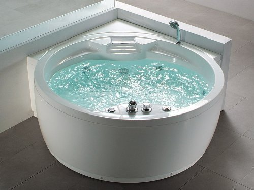 Whirlpool-Badewanne-Florenz-mit-14-Massage-Dsen-Heizung-Ozon-Desinfektion-Beleuchtung-Licht-Wasserfall-Radio-Eckwanne-Sprudelbad-Jakuzzi-indoor-innen-gnstig-0