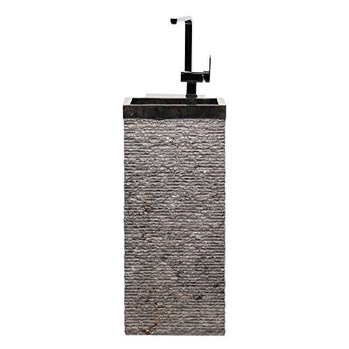 Wohnfreuden Marmor Waschtischsäule KOTAK PEDESTAL 90x40x40cm schwarz