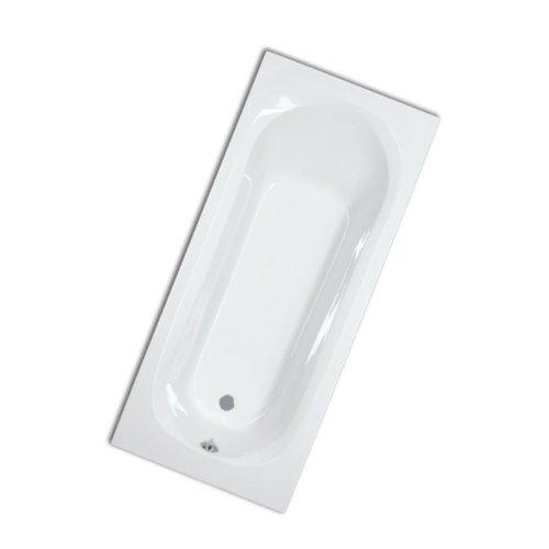myBATH BW211350 Design Acryl Badewanne Rechteck Eibsee, Luxus Rechteckbadewanne, große Wanne aus Sanitäracryl 4mm 180x80 cm weiß
