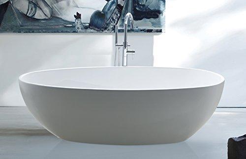 """perfect-spa Freistehende Badewanne """"Rom"""" Wanne inkl. Ab- und Überlauf"""