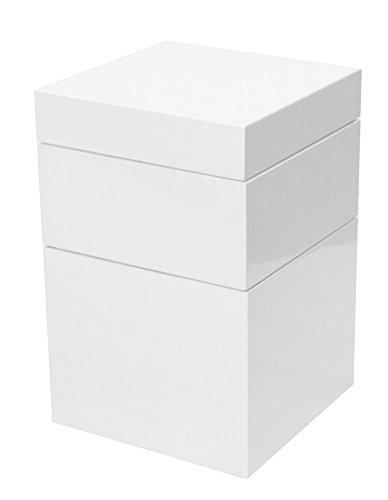 Tenzo 4853-001 Bloc Designer Turm / Truhe Holz, weiß, 36 x 36 x 55 cm