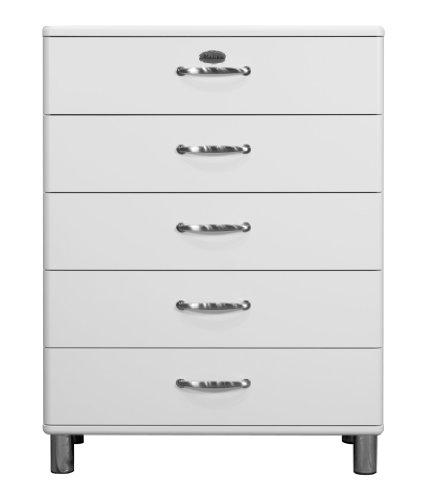 Tenzo 5295-005 Malibu - Designer Kommode, MDF lackiert, 111 x 86 x 41 cm, weiß